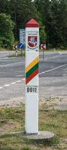 Lithuanian border sign sm 9392-1